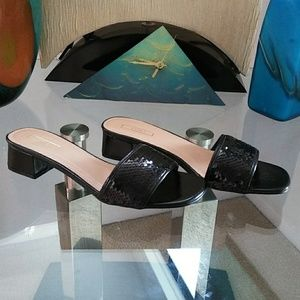 Cute Black Sequin Sandals